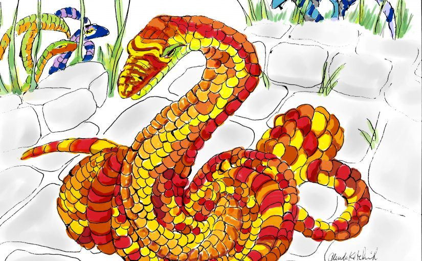 A story and an illustration…Snake